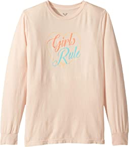 Girls Rule Long Sleeve Tee (Big Kids)