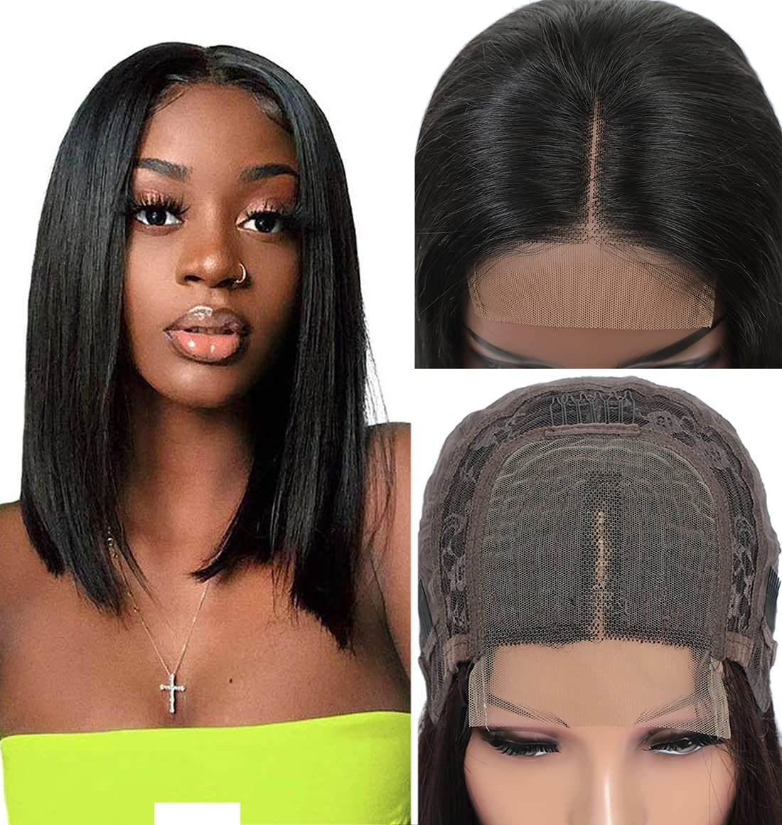 outlet Discount is also underway Short Bob Wigs Human Hair 10A Lace Closure Virgin Brazilian