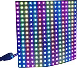 WS2812b Pixel Matrix,CHINLY 16x16 256 Pixels WS2812B Digital Flexible LED Panel Programmed Individually addressable Dream Screen DC5V