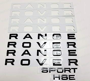 PUOU 3PCS Set Gloss Black Fit for RANGE ROVER /& Sport HSE Letters Badge Logo Front Rear Hood GLOSS BLACK