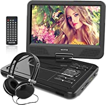 WONNIE 12.5 Inch Portable DVD Player for Car, with Rechargeable Battery, 10.5