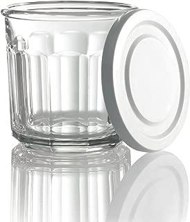 Arc International Luminarc Working Storage Jar/Dof Glass with White Lid, 14-Ounce, Set of 4 (H6812)
