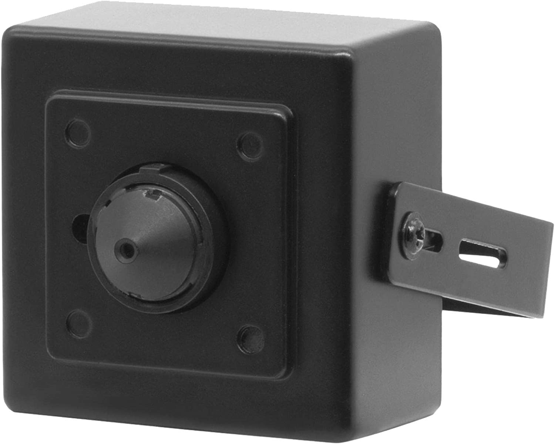 Inwerang 1080P POE IP Security Mini Spy Camera, 3.7mm Wide Angle Pinhole Lens, Indoor Mini Housing Hidden Camera, (Plug&Play with Hikvision PoE NVR),