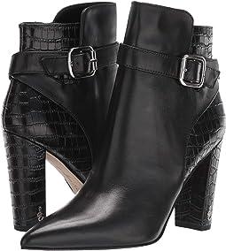 Black Modena Calf Leather/Kenya Croco Leather
