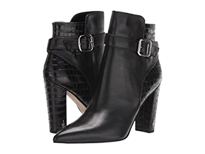 Sam Edelman Rita (Black Modena Calf Leather/Kenya Croco Leather) Women