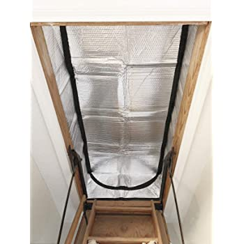 "Attic Stairs Insulation Cover for Pull Down Stair 25"" x 54"" x 11""- R-Value 15.3 Extra Thick Fire Proof Attic Cover Stairway Insulator with Easy Installation (Attic Stairway Cover)"