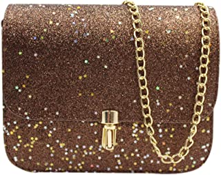 Chain Purse Evening Bag Small Shoulder Crossbody Bag Fashion Glitter Wedding Party Handbag Clutch for Women Girls