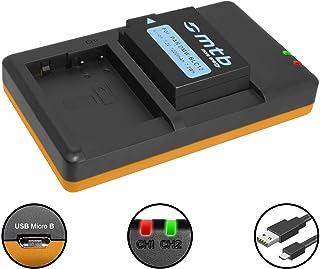 caricabatteria casa//auto per Leica BP-DC12 2x Batteria Patona