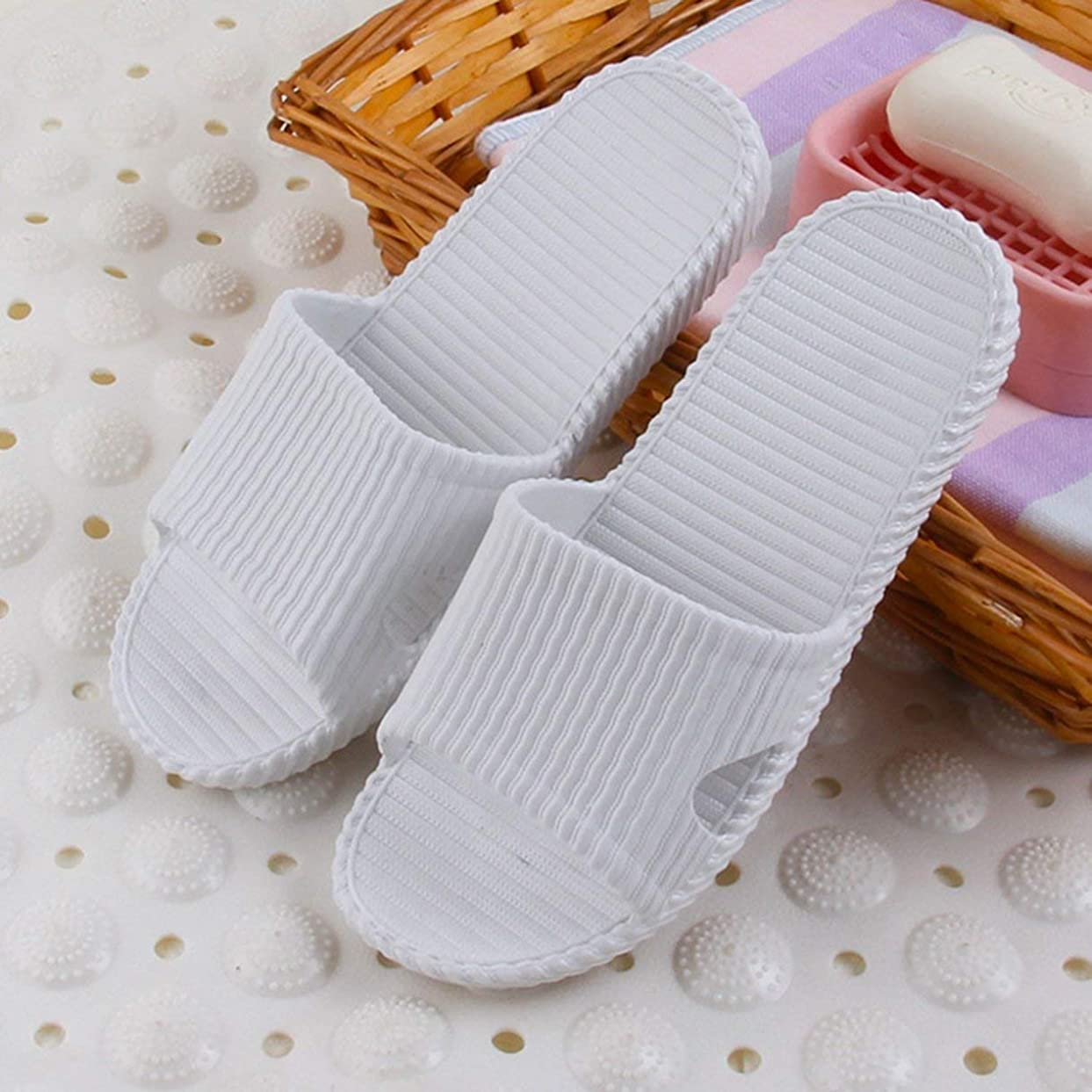 の量大事にする綺麗なUnisex Women Men Shoes Bathroom Skidproof Flat Sandals Summer Home Bathroom Slippers Casual Indoor Beach Slippers
