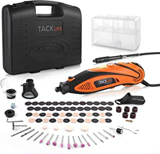 Tacklife Multi-Functional Rotary Tool Kit with 80 Accessories and 4 Attachments Variable Speed with Flexible Shaft for Home Improvement or Crafting Projects   RTD35ACL
