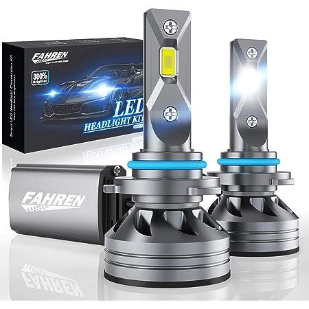 Fahren 9005/HB3 LED Headlight Bulbs, 60W 10000 Lumens Super Bright LED Headlights Conversion Kit 6500K Cool White IP68 Waterproof, Pack of 2