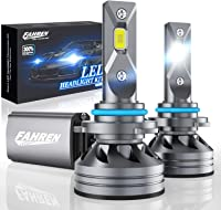 6500K White Xiphoer Canbus-Ready HB4 Conversion Kit 16,000LM for High//Low Beam with Cooling Fan Mini Size 9006 LED Headlight Bulbs