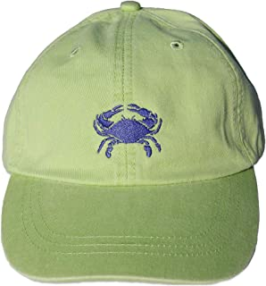 Maine Made Belted Cow Crab Design Lime Baseball Hat for Men and Women