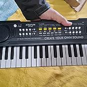 Shayson Teclado Electrónico Piano 37 Teclas,Teclado de Piano Portátil para niños con Fuente de Alimentación, Música Digital ,Educativa Regalo para ...