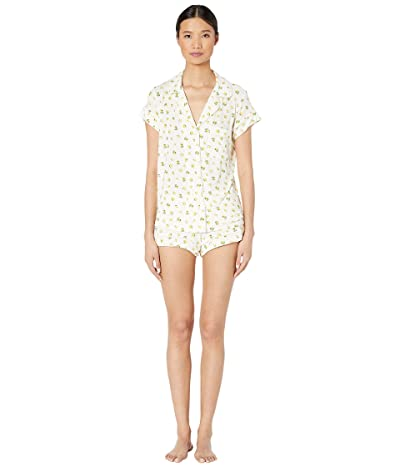 Eberjey Dianna The Short PJ Set (Multi/Nude Tint) Women