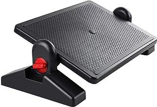 Chulovs Footrest Under Desk - Ergonomic Foot Rest Height Settings and Adjustable Tilt Locked Angles Office Foot Rest for D...