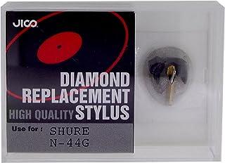 Jico Diamond Replacement Stylus Round Needle Dark Grey Shure N-44G