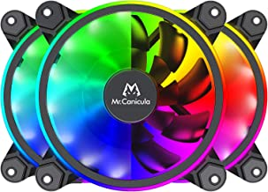 Mr.Canicula 3-Pack 120mm ARGB LED Case Fan,1262KK Quiet Edition High Airflow Adjustable Color LED PC Fan, CPU Coolers,Radi...