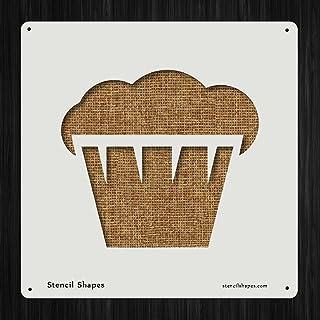 朝食マフィンケーキカップケーキ食べスタイル13897DIYプラスチックステンシルアクリルMylar再利用可能な