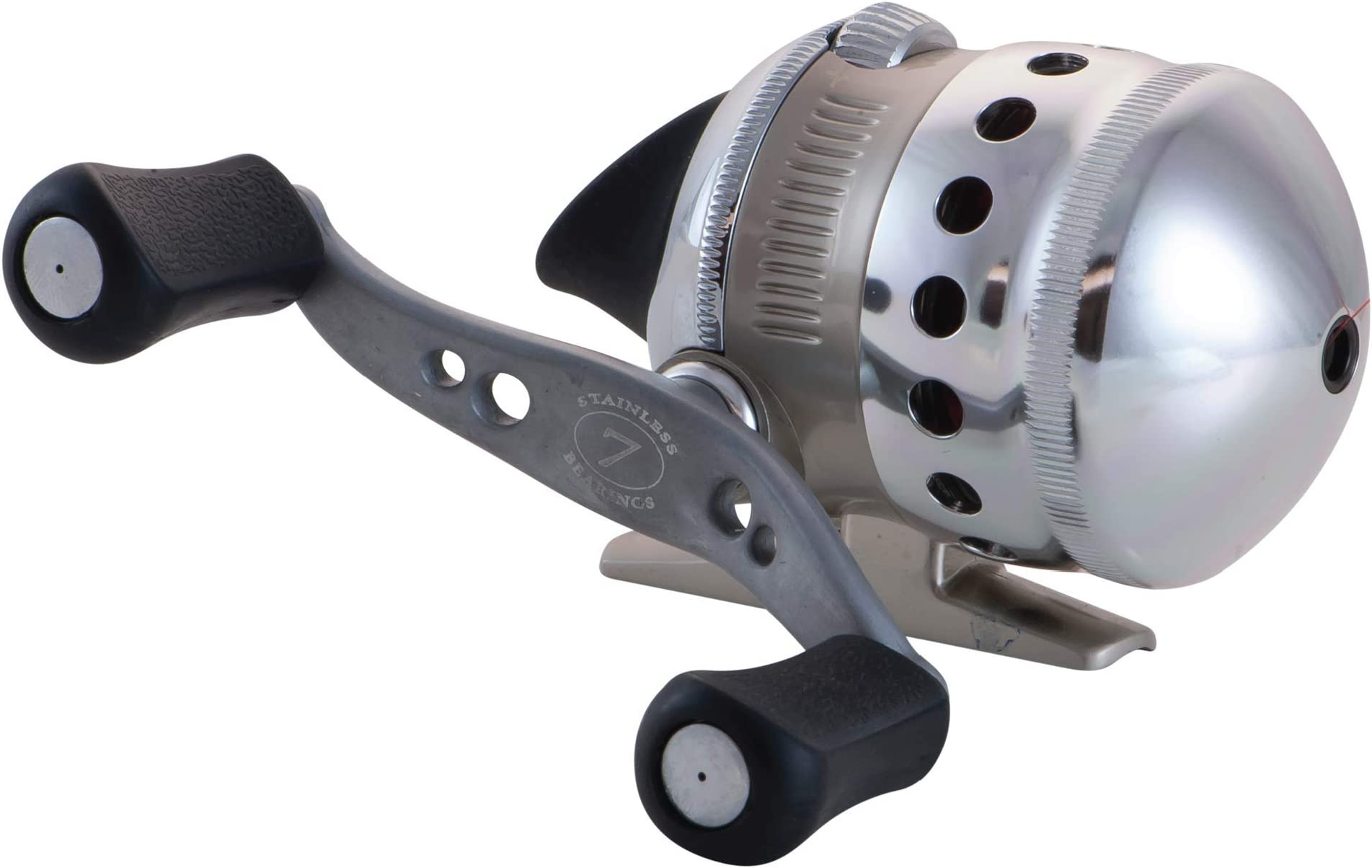 Zebco Omega Spincast Fishing Reel, 7 Bearings (6 + Clutch), Instant Anti-Reverse with a Smooth Dial-Adjustable Drag, Powerful All-Metal Gears and Spare Spool