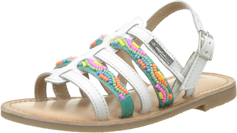 LES TROPEZIENNES par M BELARBI Little Girls Mango Leather Sandals