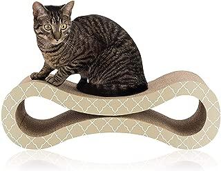 Easyology Premium Cat Scratcher Cardboard Lounge - No Messy Shavings - Reinforced Eco-Cardboard, 2 Sides - Cardboard Cat Scratcher Pad as a Cat Scratch Deterrent
