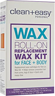 Clean + Easy Personal Roll On Waxer Refill, Large, 2 Ounce