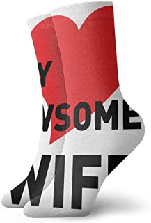 I Love My Awsome Wife 23 Socks One Size Fashion Unisex Classics Socks Athletic Stockings