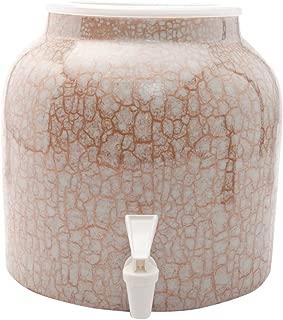 Bluewave Lifestyle PKDM261 Gold Bluewave Marble Design Beverage Dispenser Crock