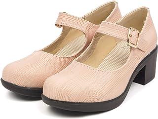 [セレブル] (バイアシナガオジサン) byあしながおじさん マニッシュシューズ レディース ストラップ 歩きやすい 太ヒール おでこ靴