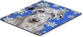 Caroline's Treasures Scottish Deerhound Winter Snowflakes Mouse Pad/Hot Pad/Trivet (SC9778MP)