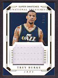2015-16 Panini National Treasures Basketball Super Swatches Jersey #20 Trey Burke /75 Utah Jazz