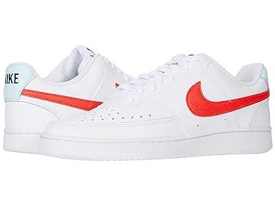 Nike Court Vision Low (White/Bright Crimson/Glacier Blue/Black) Women