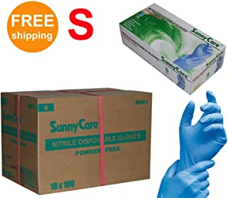 SUNNYCARE #8801 Nitrile Disposable Gloves Powder Free Size: Small 1000pcs/Case ;100pcs/box;10boxes/case