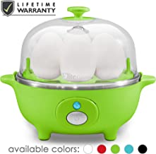 Maxi-Matic EGC-007G Easy Electric Egg Poacher, Omelet, Scrambled, Soft, Medium, Hard-Boiled Boiler Measuring Cup Included, 7 Capacity, Lime Green