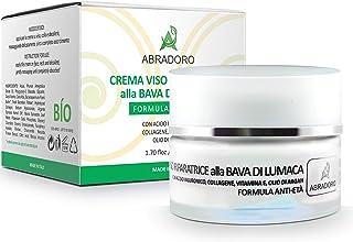 BIO baba de caracol crema facial con ácido hialurónico colágeno vitamina E aceite de argán - para cara cuello y escote...