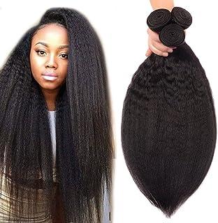 Odir Brazilian Kinky Straight Human Hair 3 Bundles 18 20 22 Inch Yaki Straight Human Hair Weave Bundles Unprocessed Brazil...