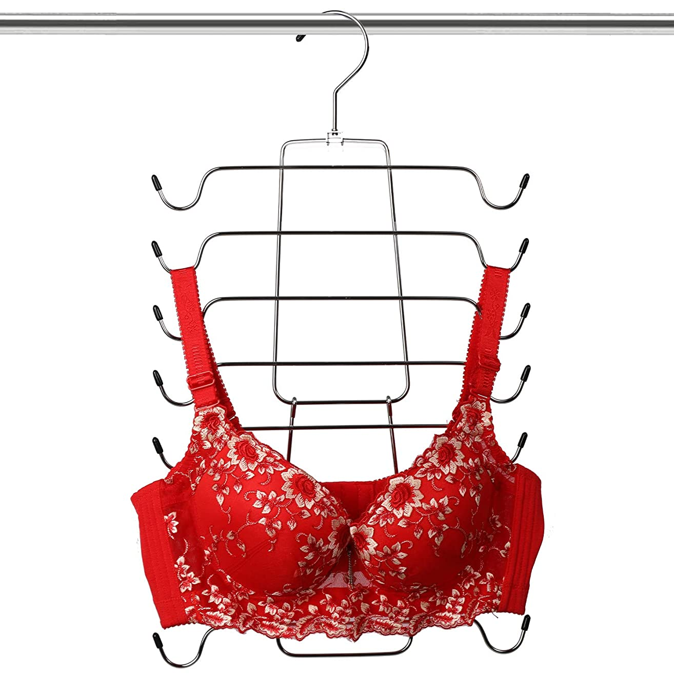 Giftol Tank Tops Hanger Metal Folding Space Saving Hanger Closet Organizer for Tank Tops, Cami, Bras, Bathing Suits, Belts, Ties