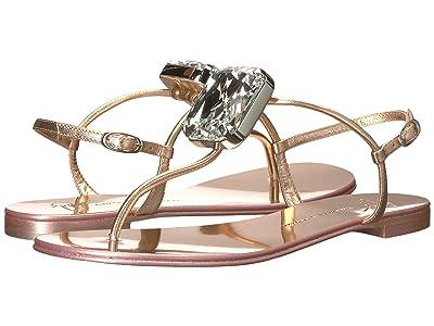 Giuseppe Zanotti Hollie Big Diamond Thong Sandal (Metal Ramino) Women