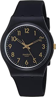 Classic Quartz Silicone Strap, Black, 16 Casual Watch (Model: GB274)