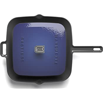 Marquette Castings Enameled Grill Pan with Press (Navy)