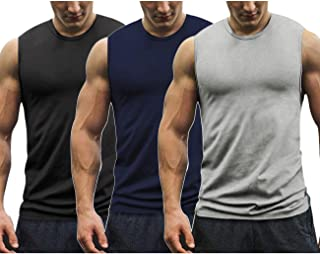 COOFANDY Mens Workout Tank Tops 3 Pack Gym Sleeveless Muscle Tee Bodybuilding Shirts