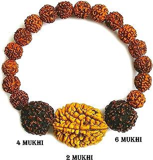 Rudraksha Rudraksh 2 4 6 Mukhi (Face) Beads Mala Wrist band bracelet-AA+++
