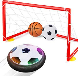 Betheaces Kids Toys Hover Soccer Ball Set 2 Goals Gift Football Disk Toy LED Light Boys Girls Age 2, 3, 4,5,6,7,8-16 Year ...