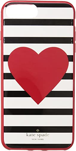 Kate Spade New York - Heart Stripe Phone Case for iPhone® 7 Plus/iPhone® 8 Plus
