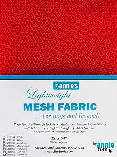 "ByAnnie's Lightweight Mesh Fabric 18""X54"" 100% Polyester-Atom Red"
