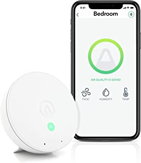 Airthings Wave Mini - Indoor Air Quality Monitor - Toxins and Chemicals (TVOCs), Humidity, Temperature