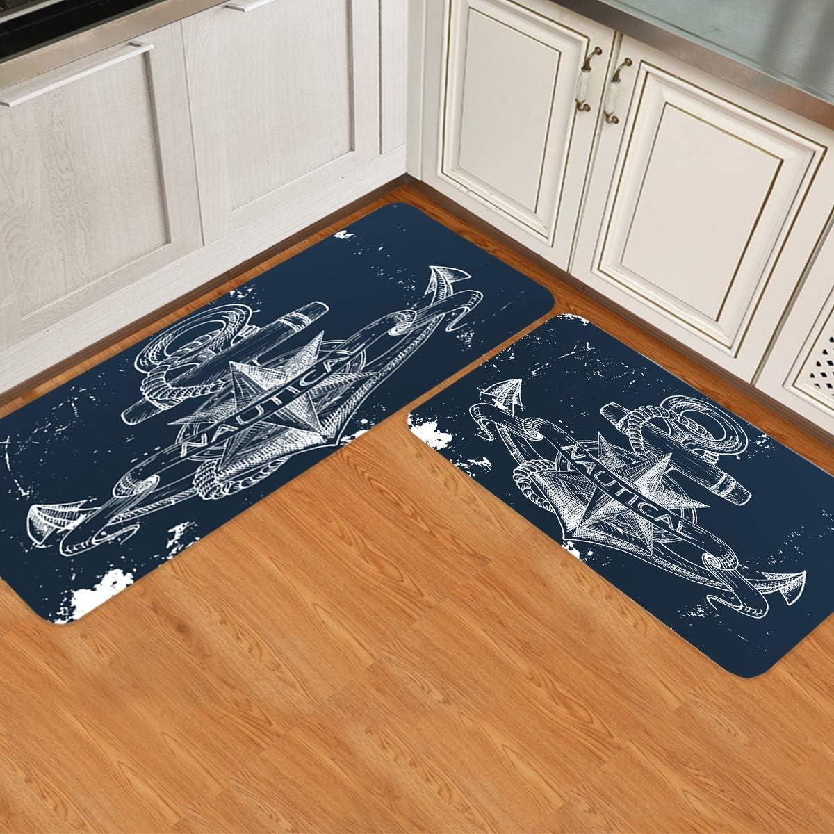 Prime Leader 2 Piece Non-Slip Kitchen Max 66% OFF Mat Runner Rug Indefinitely Set Doormat