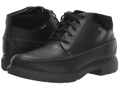 Clarks Un Tread OnGTX (Black Leather) Men