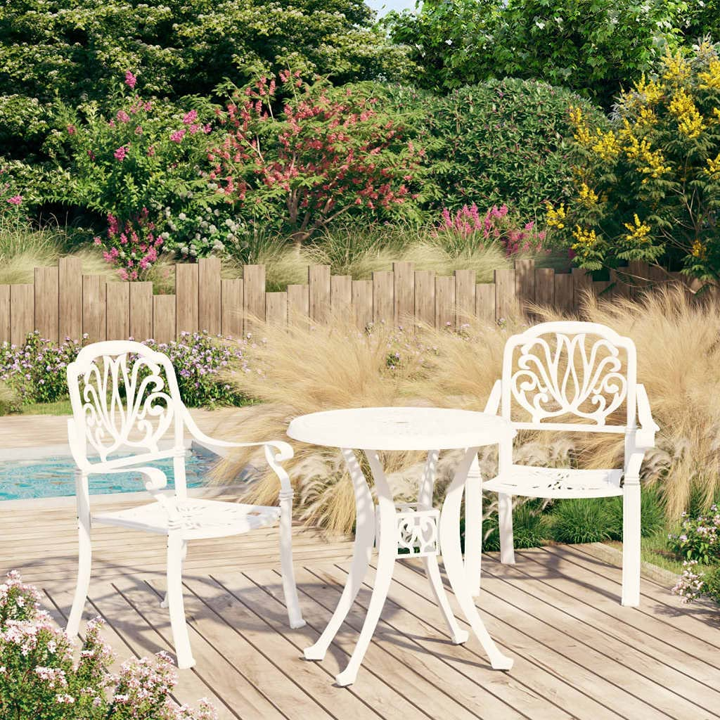 Cast Ranking TOP14 Aluminum 3 Piece Garden Dining with Luxury and Armchairs Umbre Set